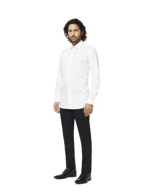 Balts Knight Opposuit krekls vīriešiem