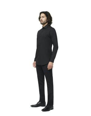 पुरुषों के लिए ब्लैक नाइट ओपोसिट शर्ट
