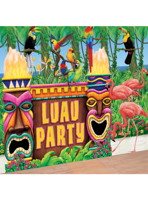 Giant Hawaiian luau decoration
