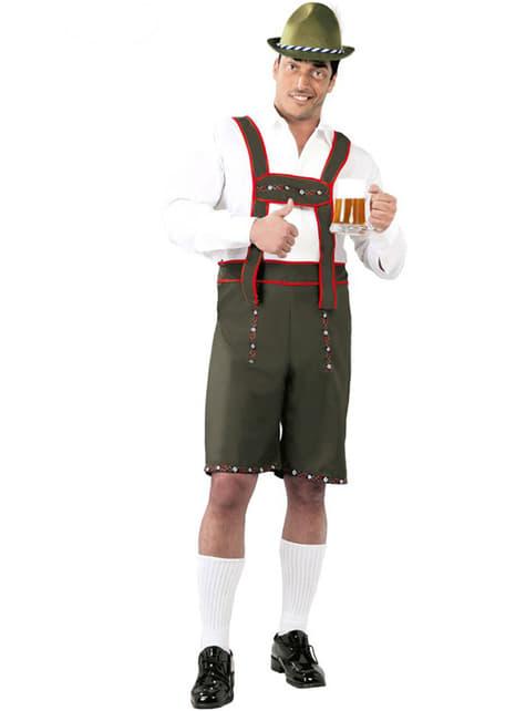 Tyroler Oktoberfestkostume til mand
