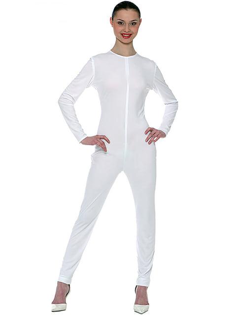 Bílý bodysuit pro ženy