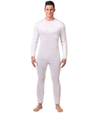 Justaucorps d'homme adulte blanc