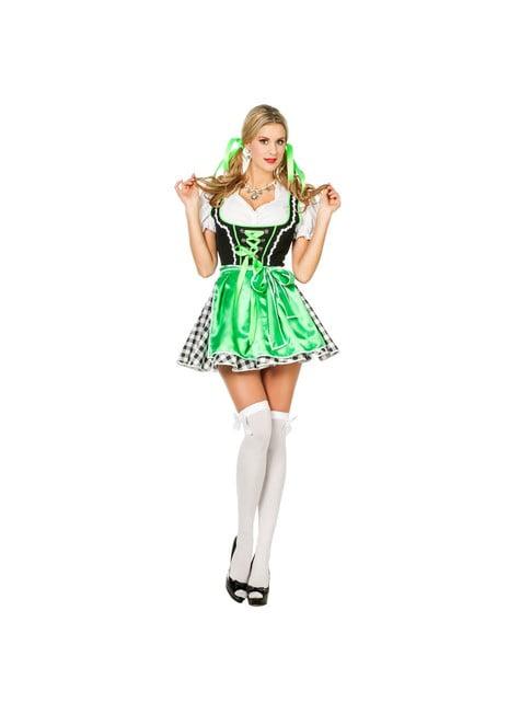 Vihreä Dirndl Naisille