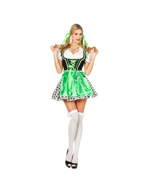 Dirndl vert femme