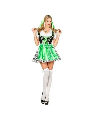 Dirndl verde para mulher