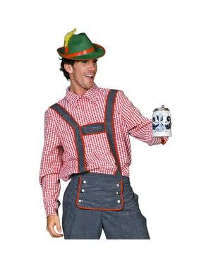 Camisa tirolesa Oktoberfest para homem