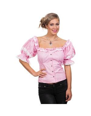 חולצת אוקטוברפסט סגולה לנשים