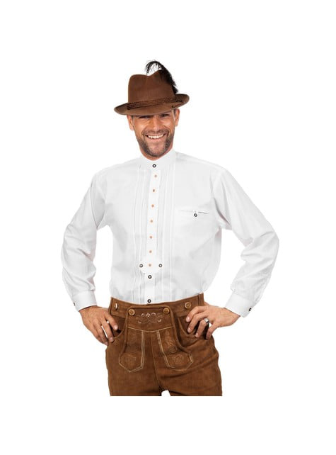 Camisa Oktoberfest blanca para hombre