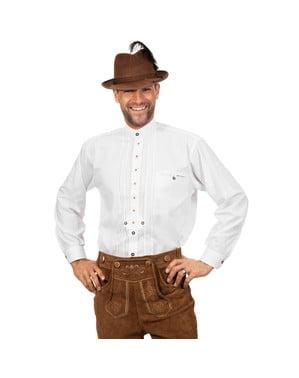 Hvit Oktoberfest skjorte til menn