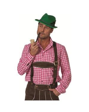 Skjorta tyroler rosa Oktoberfest vuxen