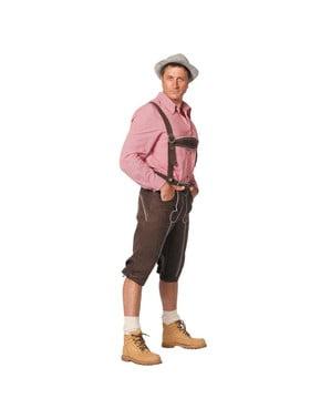 Ruskeat Lederhosen-housut miehille