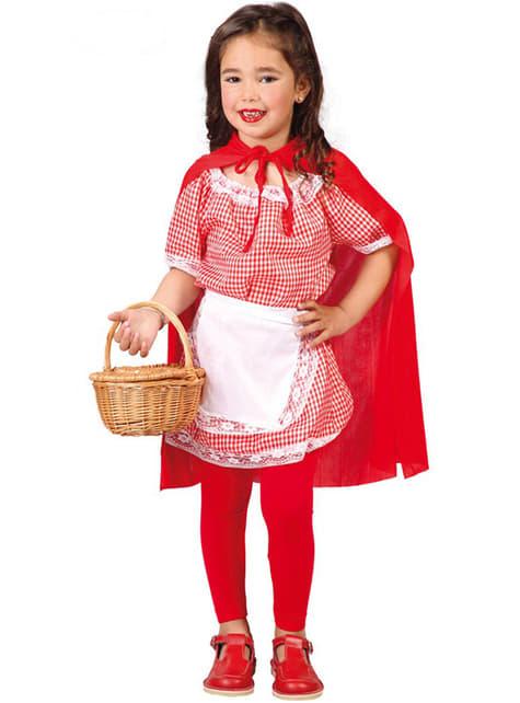 Костюм за червена шапчица за момичета