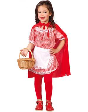 Strój Czerwony Kapturek dla dziewczynki