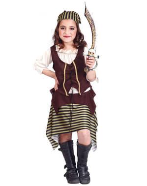 Maskeraddräkt pirattjej barn