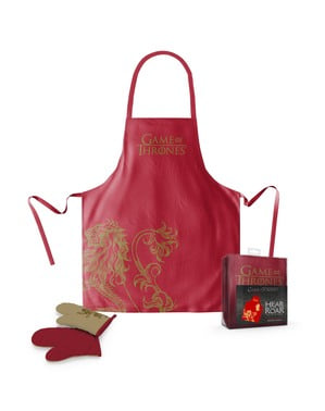 Conjunto de avental e luva Lannister - Game of Thrones