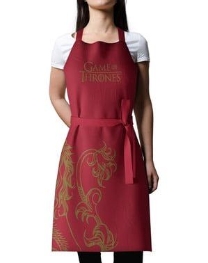 Zestaw inspirowany rodem Lannister: fartuch i rękawice kuchenne - Gra o Tron