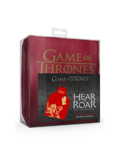 Juego de delantal y manopla Lannister - Juego de Tronos - barato