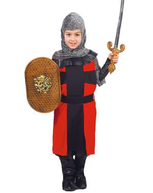 Fato de cavaleiro feudal para menino