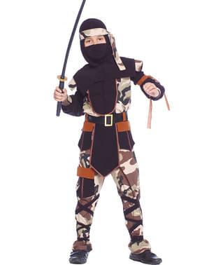 Disfraz de ninja comando para niño