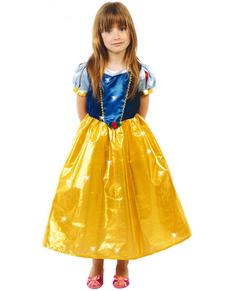 Lumiprinsessa-asu tytölle