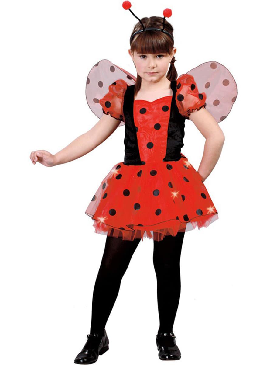 disfraz de mariquita roja para nia