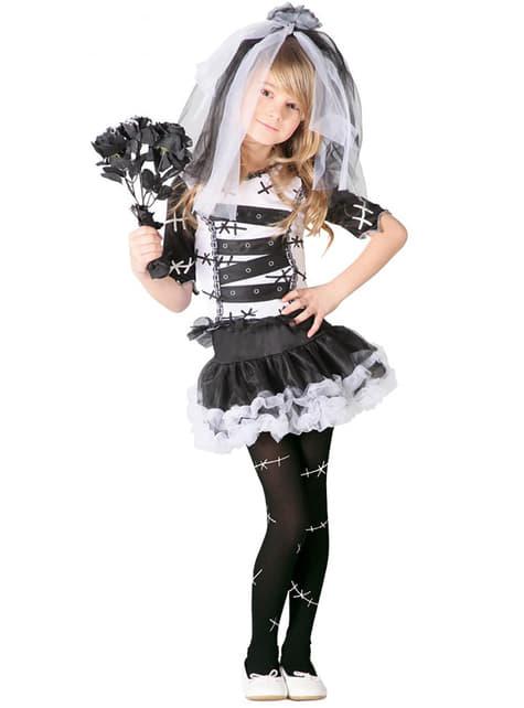 Disfraz de novia cadáver para niña