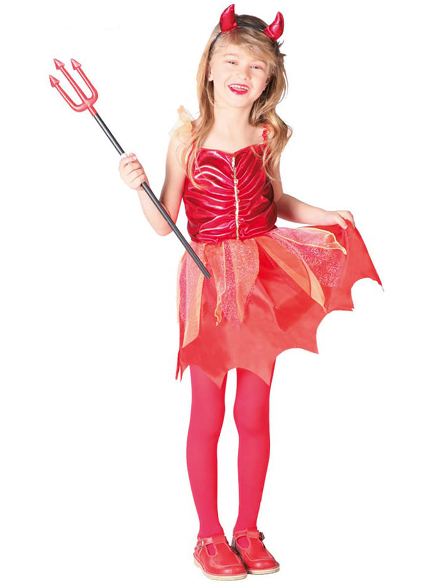 She-Devil Costume for Girls, Red. Express delivery