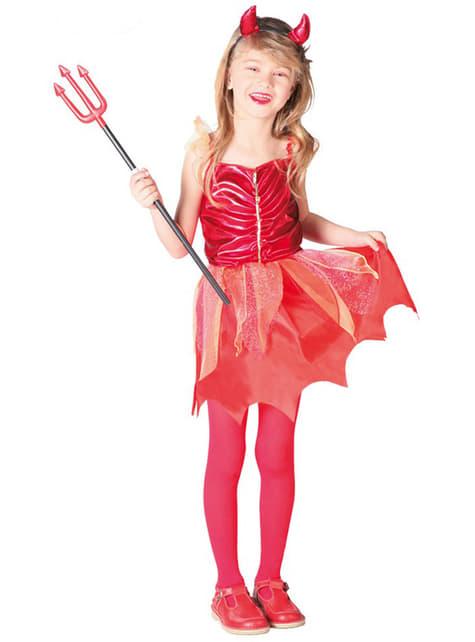 Disfraz de diablesa roja para niña