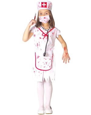 Costum de asistentă zombie pentru fete