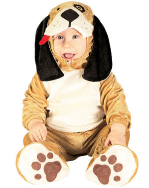 Costum de cățel pentru bebeluși