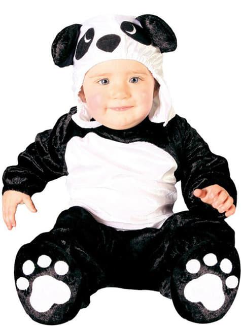 Strój miś panda dla niemowlaka