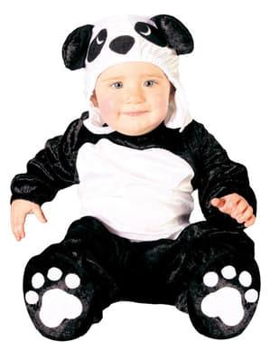 Fato de urso panda para bebé