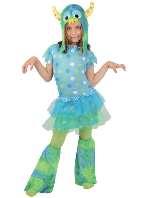 תלבושות מפלצת קטנה עבור בנות