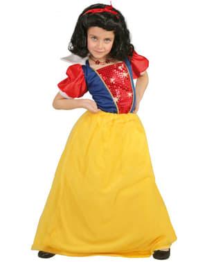 Disfraz de Blancanieves del bosque para niña