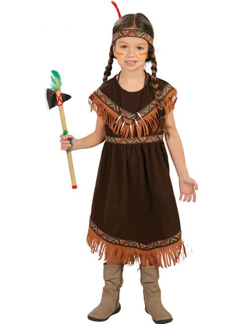Dievčenský kostým indiánka z kmeňa Sioxov