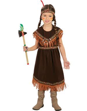 Dívčí kostým Indiánka z kmene Siouxů
