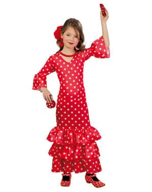 Flamencodanserinne Kostyme til Jenter