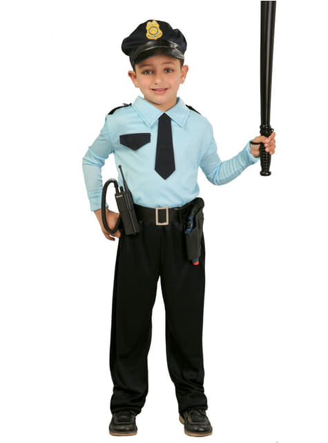 Disfraz de policía classic para niño
