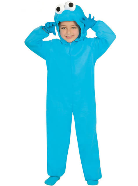 Fato de monstro azul infantil