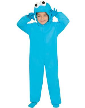 Monster kostume blå til små børn