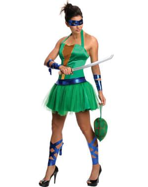 Disfraz de Leonardo de las Tortugas Ninja para mujer