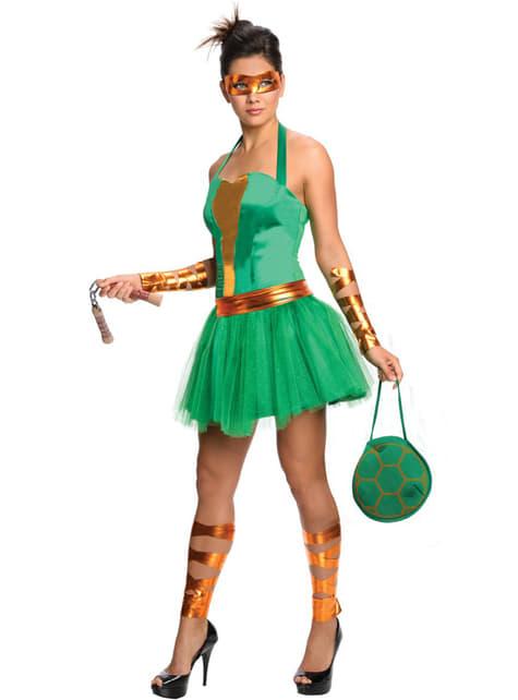 Disfraz de Michelangelo de las Tortugas Ninja para mujer