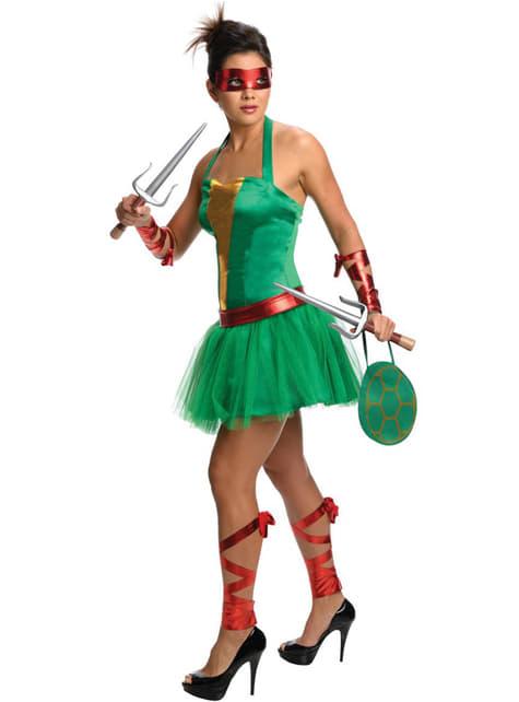 Disfraz de Raphael de las Tortugas Ninja para mujer