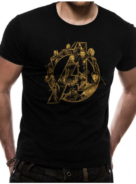 Camiseta Los Vengadores: Infinity War Símbolo Dorado