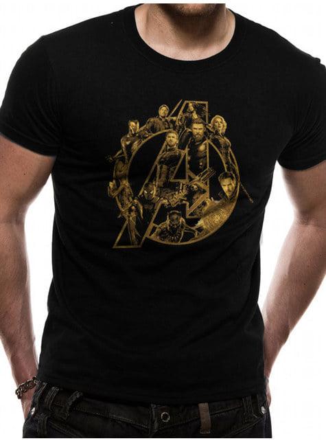 T-shirt Os Vingadores: Infinity War Símbolo Dourado