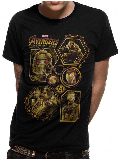 Avengers: Infinity War T-Shirt for Men in Black