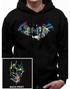 Mikina s kapucí pro dospělé Gotham Face - Batman 3558d5a9b8
