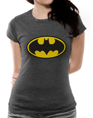 Classic Musta Logo T-paita naisille - Batman