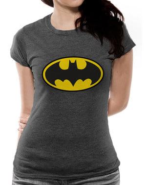 Czarna koszulka klasyczne logo Batman dla kobiet - DC Comics