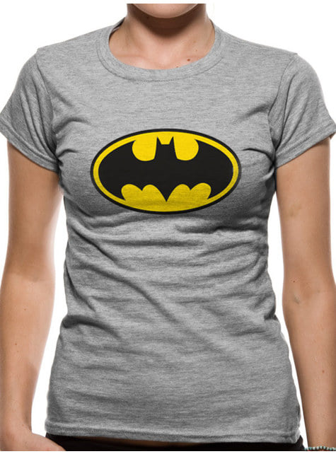 Classic Batman Logo T-Shirt for Women, Grey – DC Comics